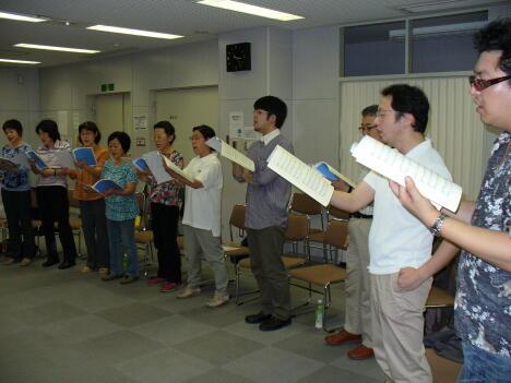 弘混関東地区OB会7月1日の練習風景